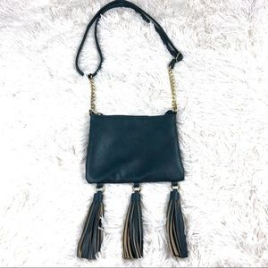 Handbags - 👑Deep teal tassel crossbody bag